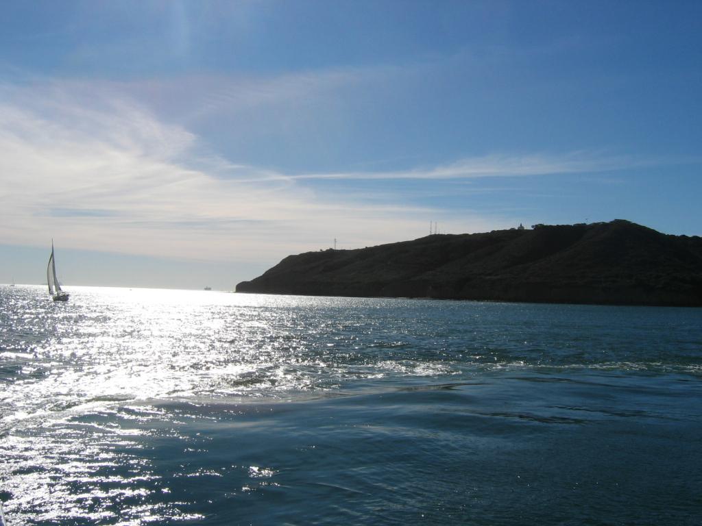 Sailing Near The Coast, Point Loma, San Diego, California, photography by R. Isip
