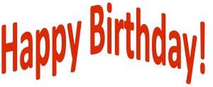Image of phrase Happy Birthday