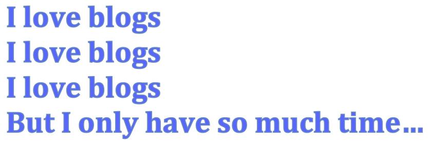 Image of phrase I love blogs
