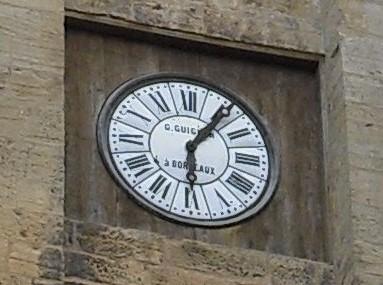 Clock on Cathédrale Saint-Sacerdos de Sarlat, Sarlat, France, photography by R. Isip