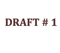 "Image of phrase ""Draft #1"""