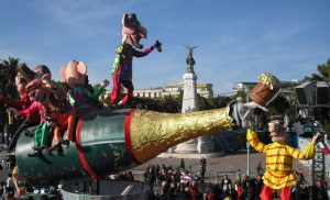 Image of Champagne float in 2009 Nice Carnival, Nice, France, photography by R. Isip