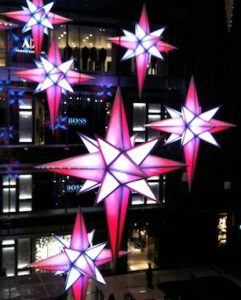 Image of holiday stars, photography by R. Isip