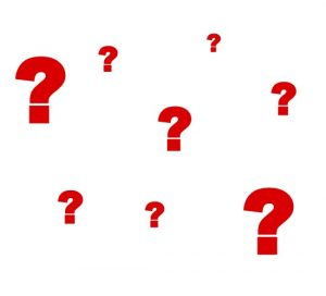 Image of red question marks