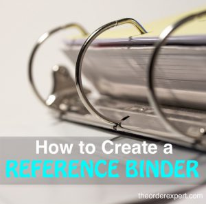 How to Create a Reference Binder