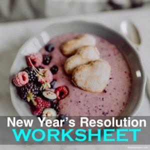 New Year's Resolution Worksheet