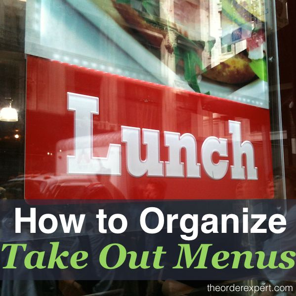 How to Organize Take Out Menus