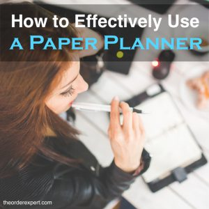 How to Effectively Use a Paper Planner