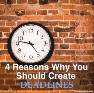 Image of a clock on a brick wall by Kaboompics and the phrase, 4 Reasons Why You Should Create Deadlines