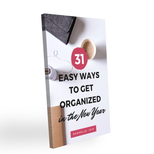 Image of an eBook with the title, 31 Easy Ways to Get Organized in the New Year