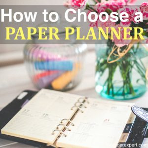 How to Choose a Paper Planner