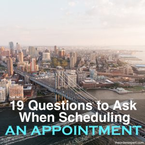 19 Questions to Ask When Scheduling an Appointment