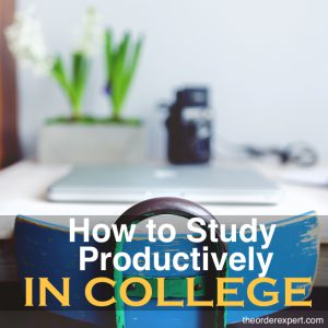 How to Study Productively in College