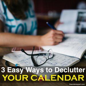 3 Easy Ways to Declutter Your Calendar