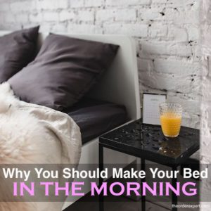Want to Have a Productive Day? Try Making Your Bed in the Morning